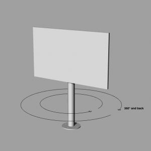 tv st nder drehbar silber bis 82 zoll md livingdesign. Black Bedroom Furniture Sets. Home Design Ideas