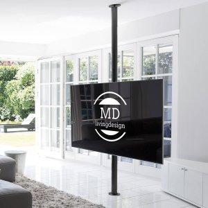 tv stange schwarz drehbar