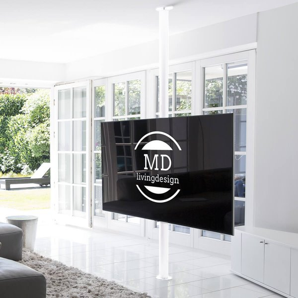 tv stange drehbar weiss von md livingdesign