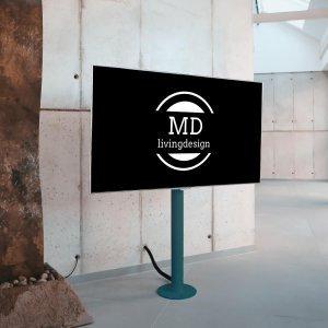 tv standfuß in petrol von md livingdesign